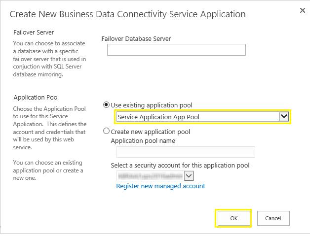 configure bdc service application sharepoint 2016