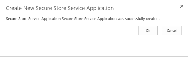 create secure store service application powershell