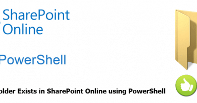 Check If Folder Exists in SharePoint Online using PowerShell 390x205