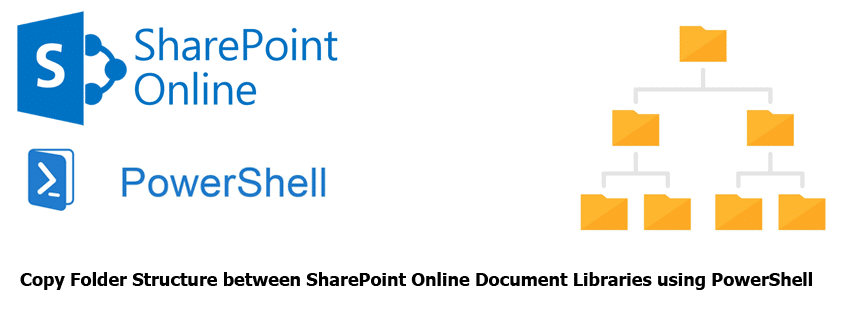 Copy Folder Structure between SharePoint Online Document Libraries using PowerShell