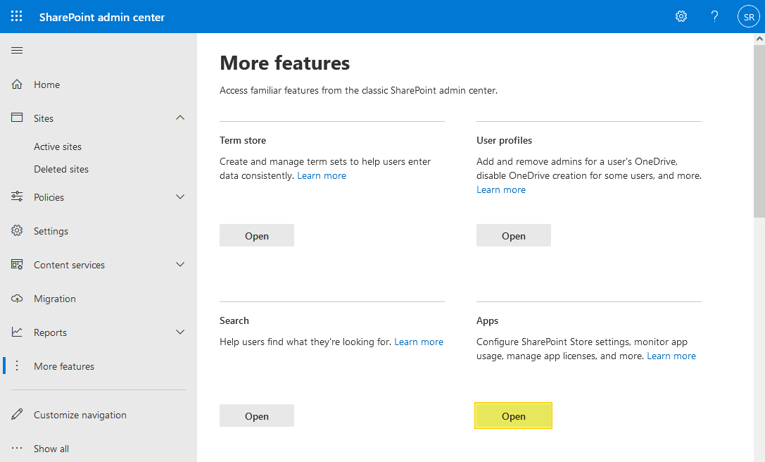 Create App Catalog Site Collection SharePoint Online