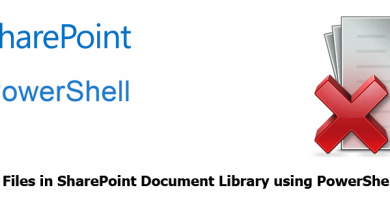 Delete All Files in SharePoint Document Library using PowerShell 390x205