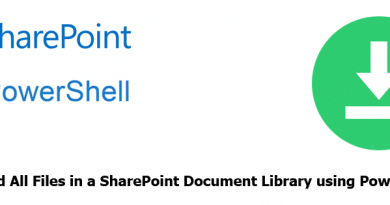 Download All Files in a SharePoint Document Library using PowerShell 390x205
