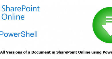 Download All Versions of a Document in SharePoint Online using PowerShell 390x205