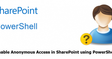 Enable Anonymous Access in SharePoint using PowerShell 390x205