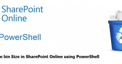 Get Recycle Bin Size in SharePoint Online using PowerShell 390x205