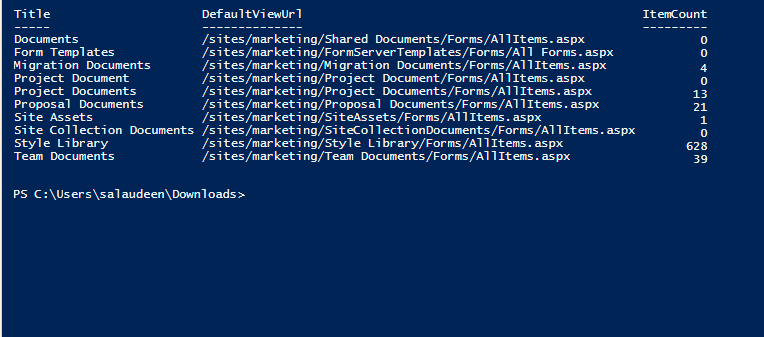 Get all document libraries in SharePoint Online using PowerShell PnP