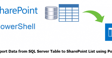 How to Import Data from SQL Server Table to SharePoint List using PowerShell 390x205
