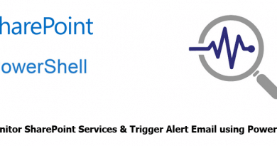 Monitor SharePoint Services and Send Alert Email using powershell 390x205