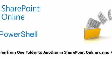 Move All Files from One Folder to Another in SharePoint Online using PowerShell 390x205