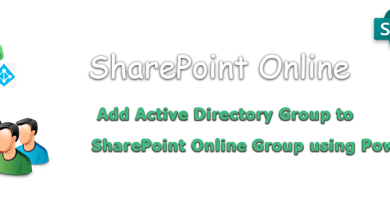 PowerShell to Add Active Directory Group to SharePoint Online Group 390x205