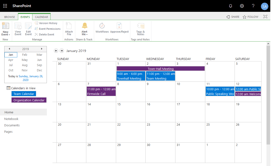 PowerShell to Add calendar event in sharepoint online