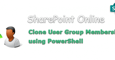 PowerShell to Clone User Group Memberships in SharePoint Online 390x205