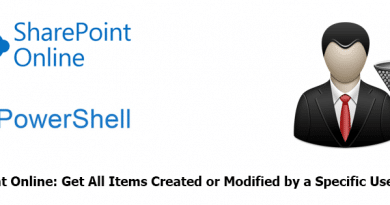 PowerShell to Get All Items Created or Modified by a Specific User in SharePoint Online 390x205