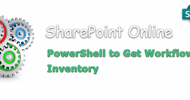 PowerShell to Get Workflow Inventory in SharePoint Online 390x205
