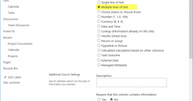 PowerShell to add multiline text field to sharepoint online list 390x205
