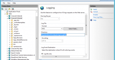 PowerShell to archive IIS ULS Log Files in SharePoint 390x205