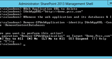 PowerShell to delete web application in sharepoint 2013 390x205