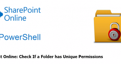 Powershell to Check If a Folder has Unique Permissions in SharePoint Online 390x205
