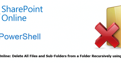 SharePoint Online Delete All Files and Sub Folders from a Folder Recursively using PowerShell 390x205