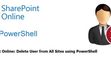 SharePoint Online Delete User from All Sites using PowerShell 390x205