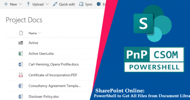 SharePoint Online PowerShell to get All Files from a Document Library 390x205