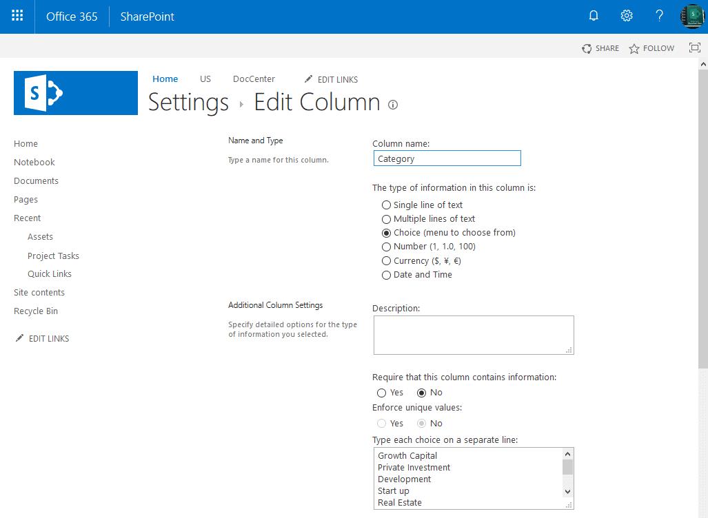 SharePoint Online update List Field Settings using PowerShell