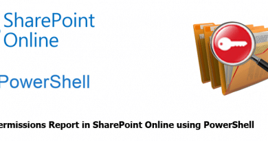 Unique Permissions Report in SharePoint Online using PowerShell 390x205
