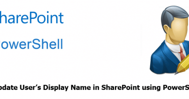 Update User Display Name in SharePoint using powershell 390x205