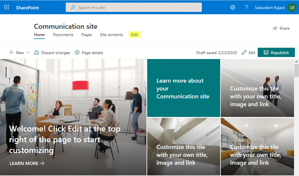 add a link to top navigation menu in sharepoint online
