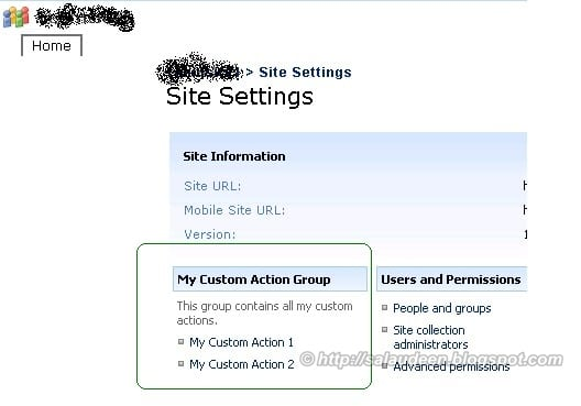 Add Custom Group to SharePoint Site Settings Page