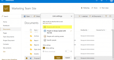 anyone with the link is disabled in sharepoint online 390x205