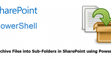 archive files into sub folders in sharepoint using powershell 390x205