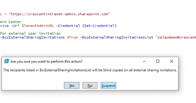 bcc external user invitations in sharepoint online and Onedrive 390x205