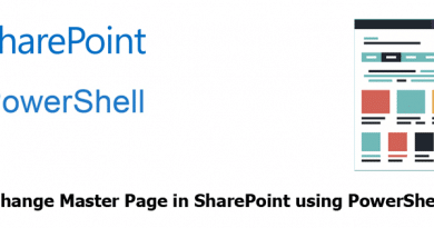 change master page in sharepoint using powershell 390x205