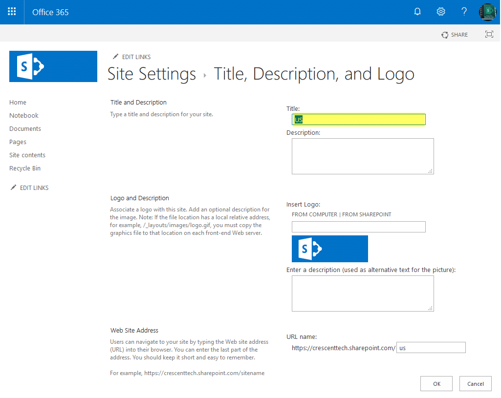 change site collection title in sharepoint online using powershell