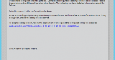 configuration failed failed to connect to the configuration database 390x205