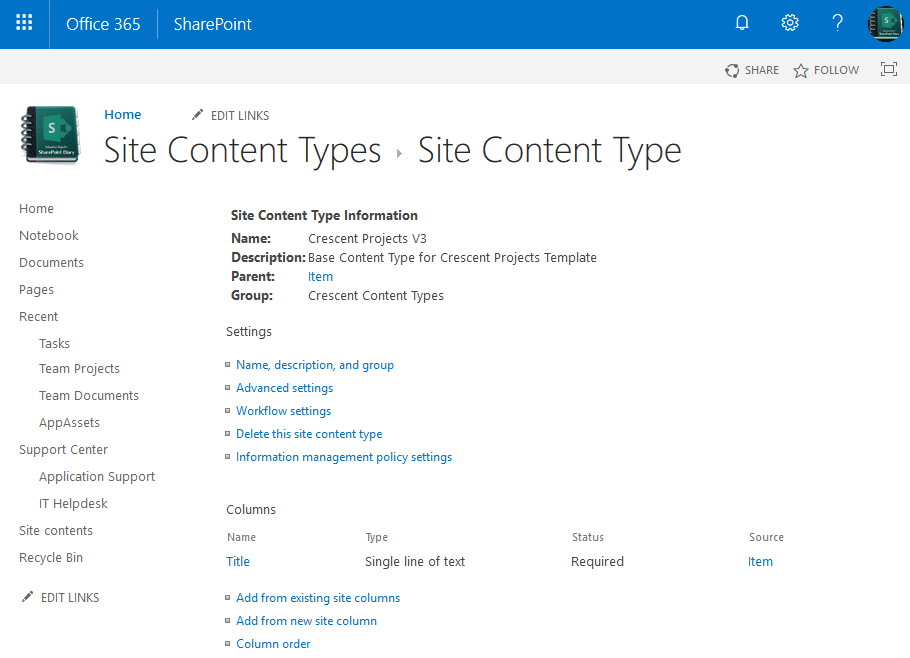 create content type in sharepoint online using powershell
