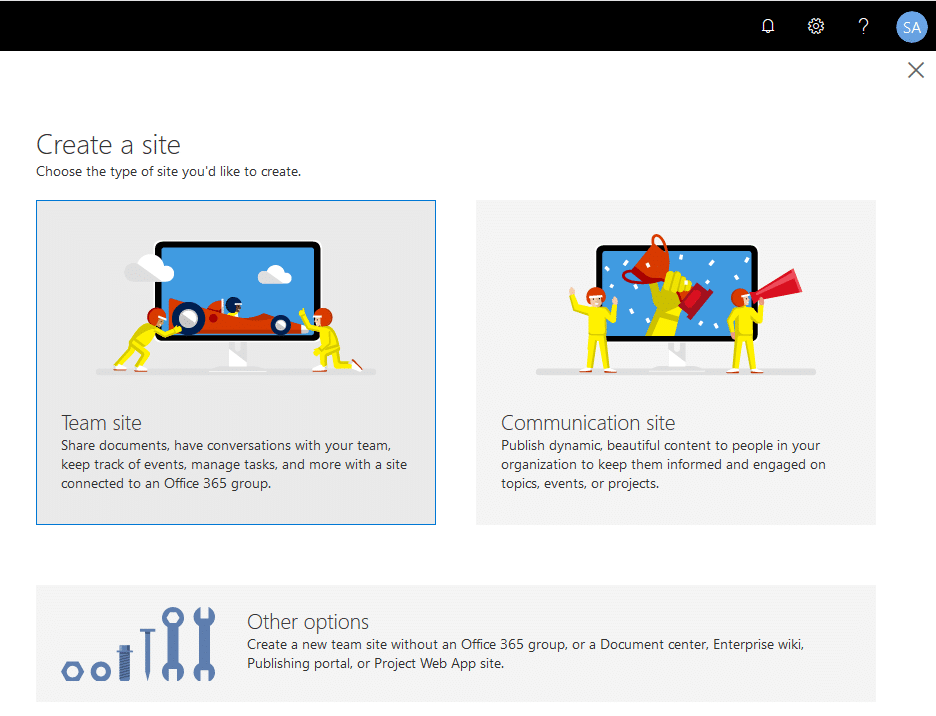 create modern site collection sharepoint online powershell