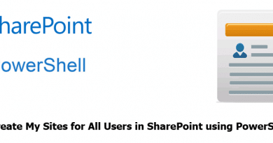 create mysite for all users in sharepoint using powershell 390x205