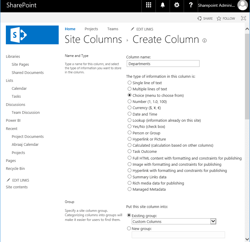 create site columns using powershell in sharepoint online