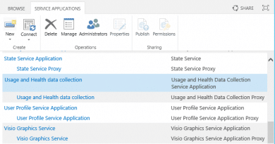 create usage and health data collection service application in sharepoint 2016 390x205