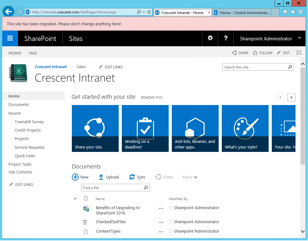 custom action to add top banner message in sharepoint using powershell