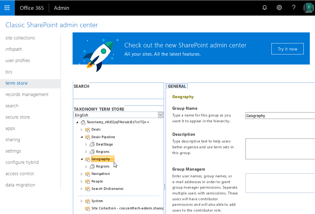 Delete a Term Group in SharePoint Online PowerShell
