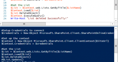 delete list in sharepoint online using powershell 390x205