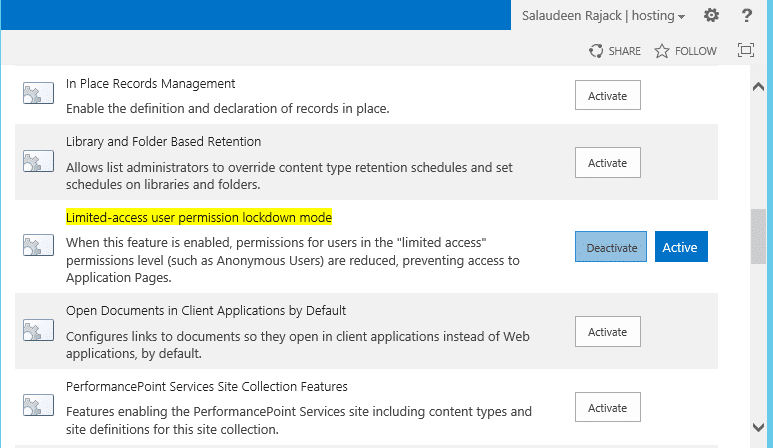 sharepoint anonymous access prompt login