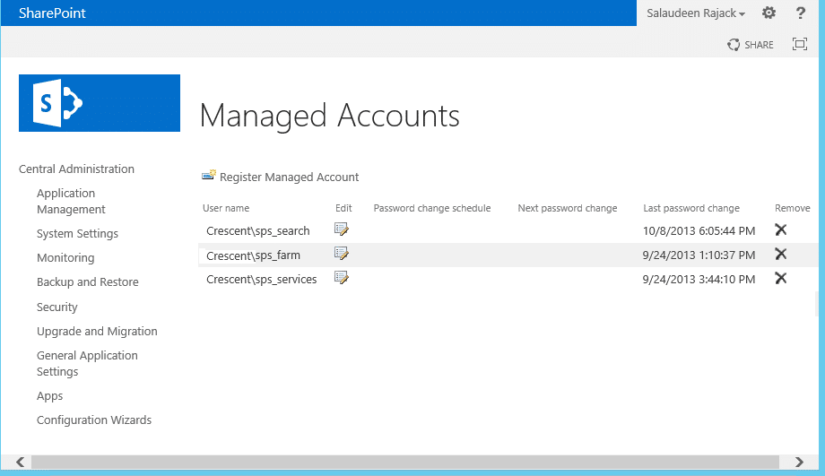 reset managed account password sharepoint 2013