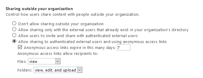 enable external sharing in sharepoint online using powershell