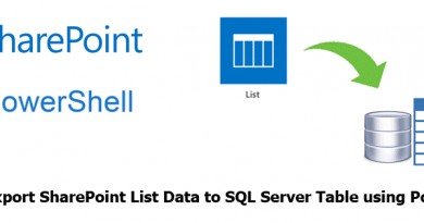 export sharepoint list data to sql server table using powershell 390x205
