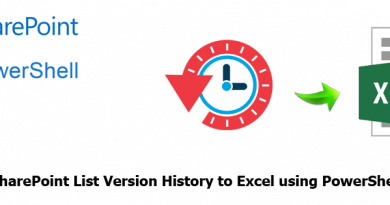 export sharepoint list version history to excel using powershell 390x205